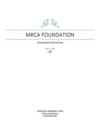 Foundation Scholarship Application